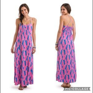 NWOT •Vineyard Vines• Palm Print Maxi Dress